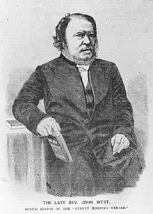 The late Rev. John West