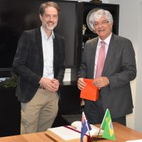 Ambassador of Brazil discusses possible collaboration in dementia and agricultural science