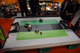 Photo of robots competing