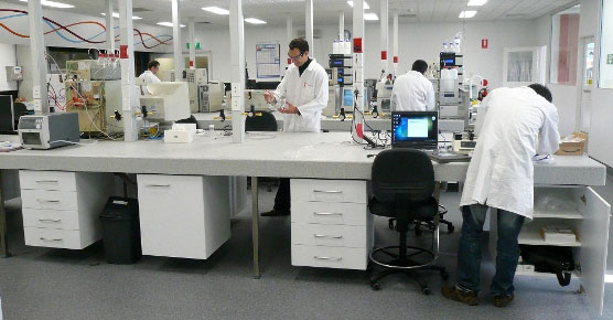 Across researchers working in a lab