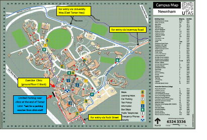 Exercise Physiology Clinic Map - Driving