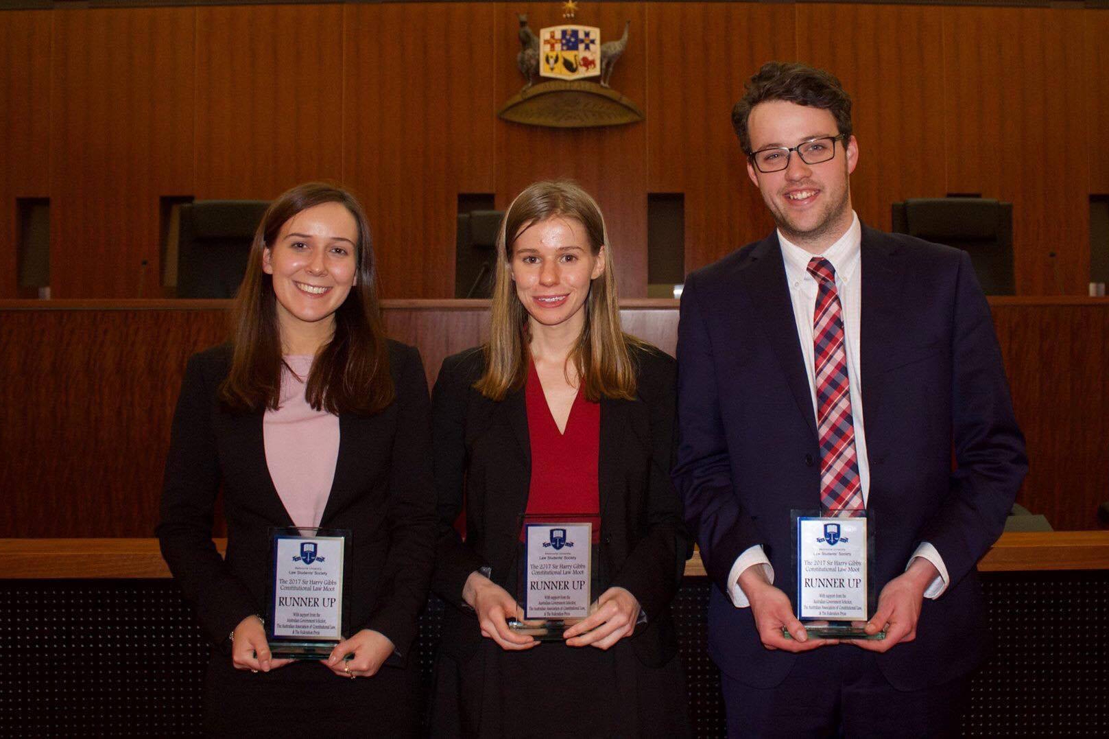 Second place in the Sir Harry Gibbs Constitutional Law Moot Grand Final