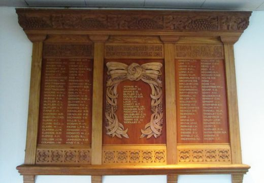 Re-unveiling of honour board for World War One servicemen and women