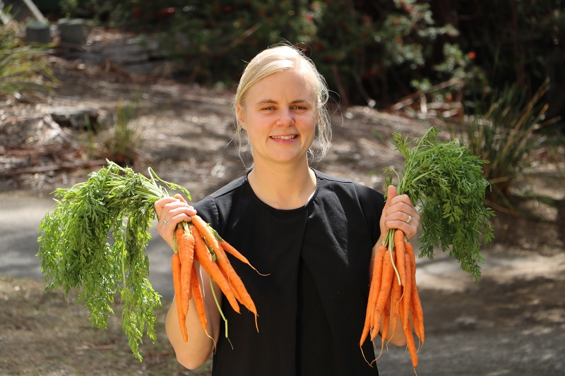 Beth Penrose with carrots