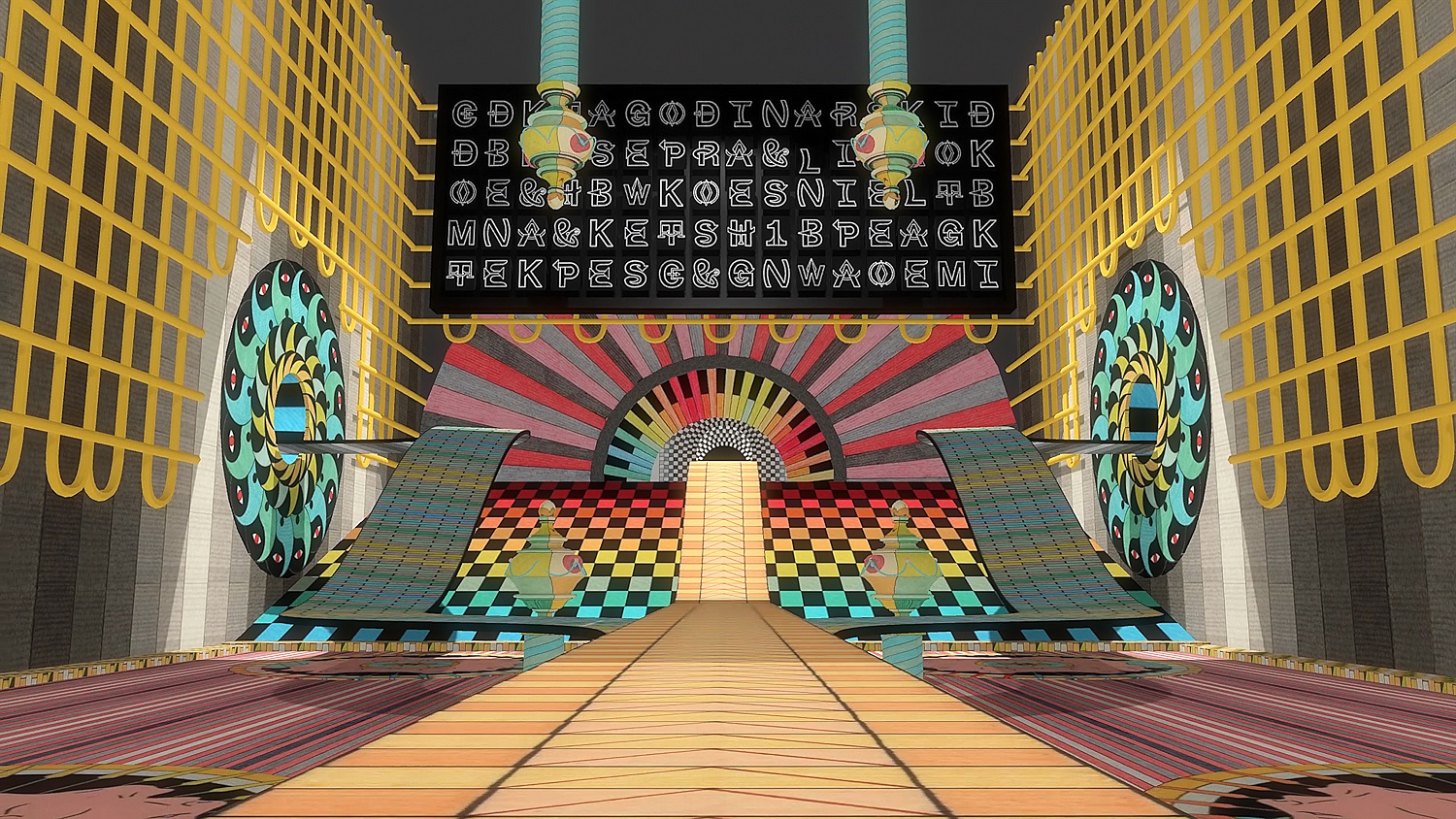 Jess Johnson and Simon Ward Terminus  2017–18  (detail) Virtual reality experience in five parts: colour, sound National Gallery of Australia. Commissioned 2017 with the assistance of The Balnaves Foundation