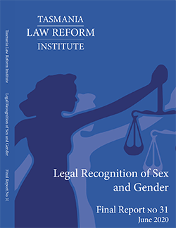 Legal Recognition of Sex and Gender report cover