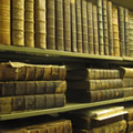 Photograph of some books in the Rare Book Collection
