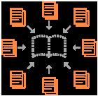 Collaborative book icon