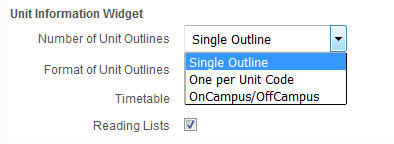 Choose your Unit outline preference