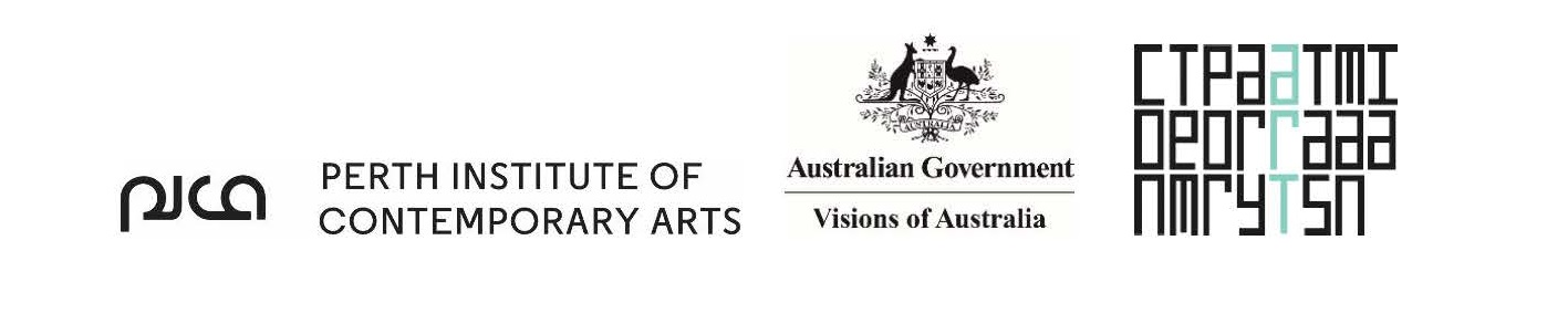Logos - Contemporary Art Tasmania, PICA, Australian Government Visions of Australia (Australia Council for the Arts, Arts Tasmania)