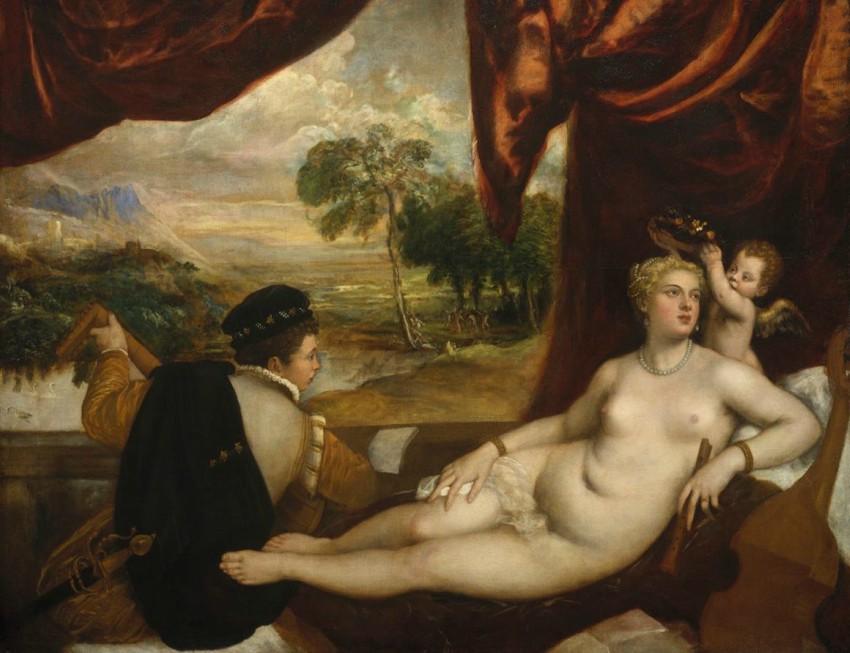 Art Forum - Antonio Baldassarre. Image credit: Titian (ca. 1488-1576), Venus and the Lute-Player, 1565-1570, oil on canvas, 165.1 x 209.6 cm. New York: Metropolitan Museum of Art