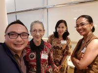 Reconnecting at Jakarta Alumni reception