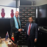The University receives the Rector from Timor Leste