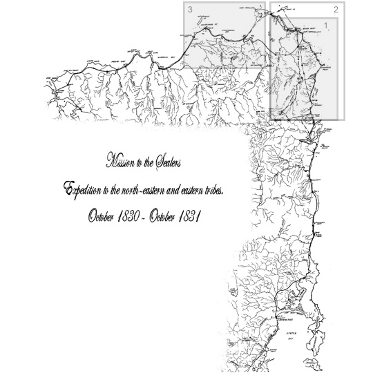 The Forays of G.A.Robinson Map