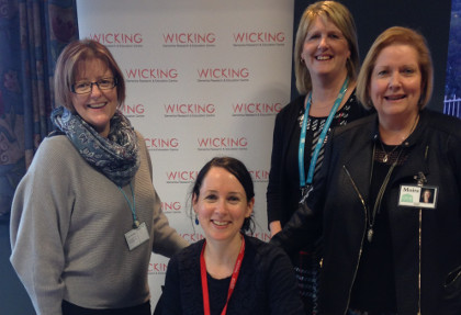 Corinna Hibberd, Dr Emma Leee (Wicking), Linda Paynter (at back), and Moira Laverty (QVH CEO).