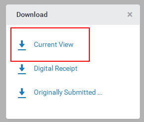 Select Current view for your full report including Grademark feedback