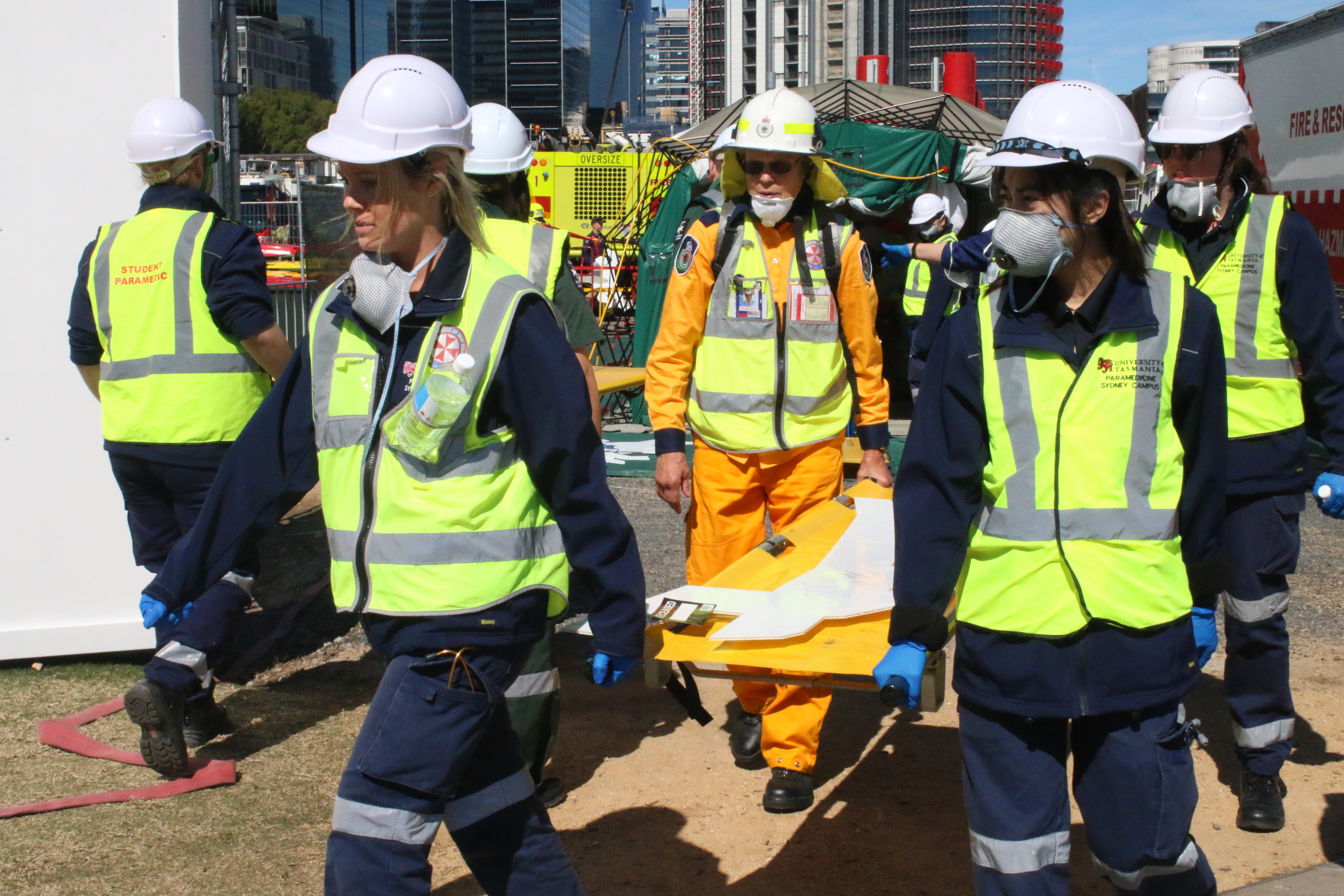 University paramedicine students shine in the face of disaster