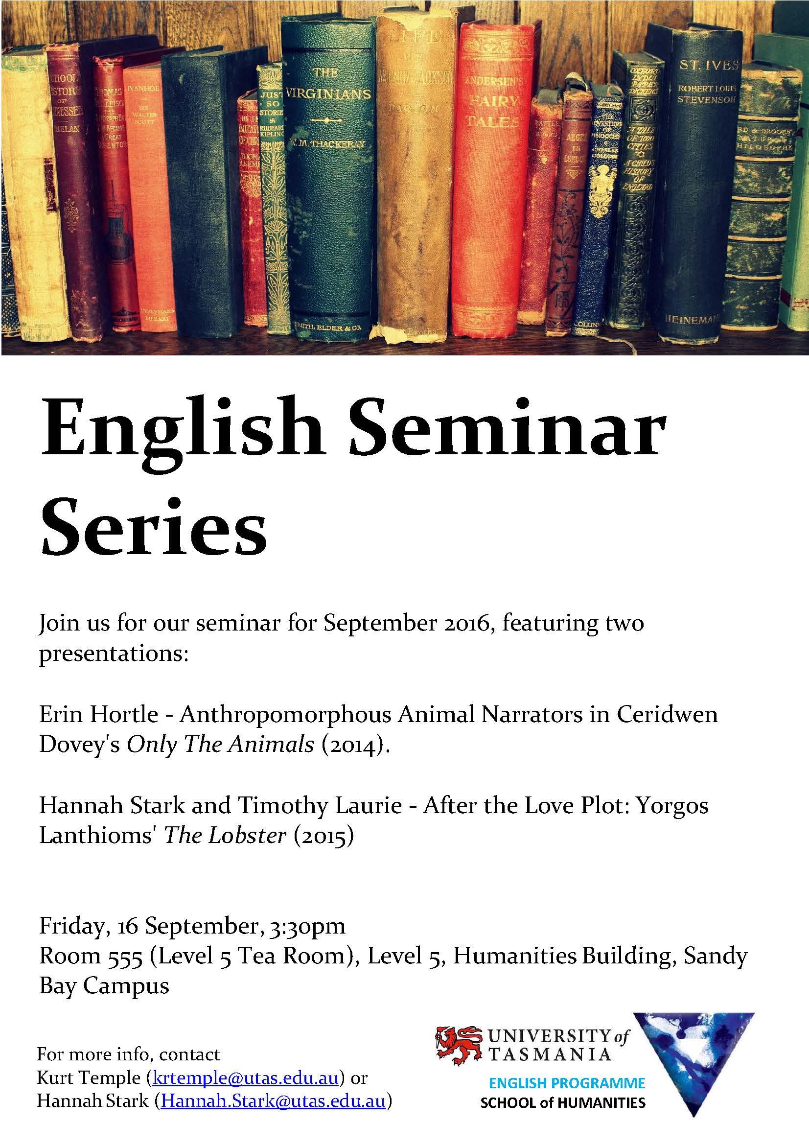 English Seminar Series 16 Sep