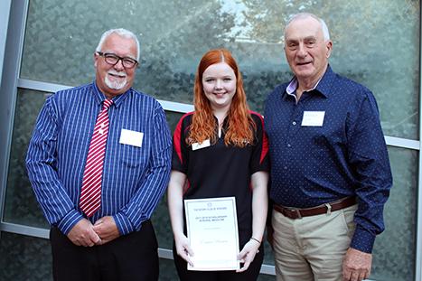 Emma Brown 2017 recipient of the Wynyard Rotary scholarship
