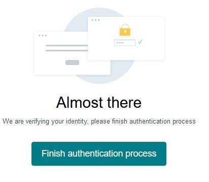 Finish Authentication process