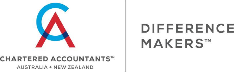 Chartered Accountants Australia New Zealand | Difference Makers logo