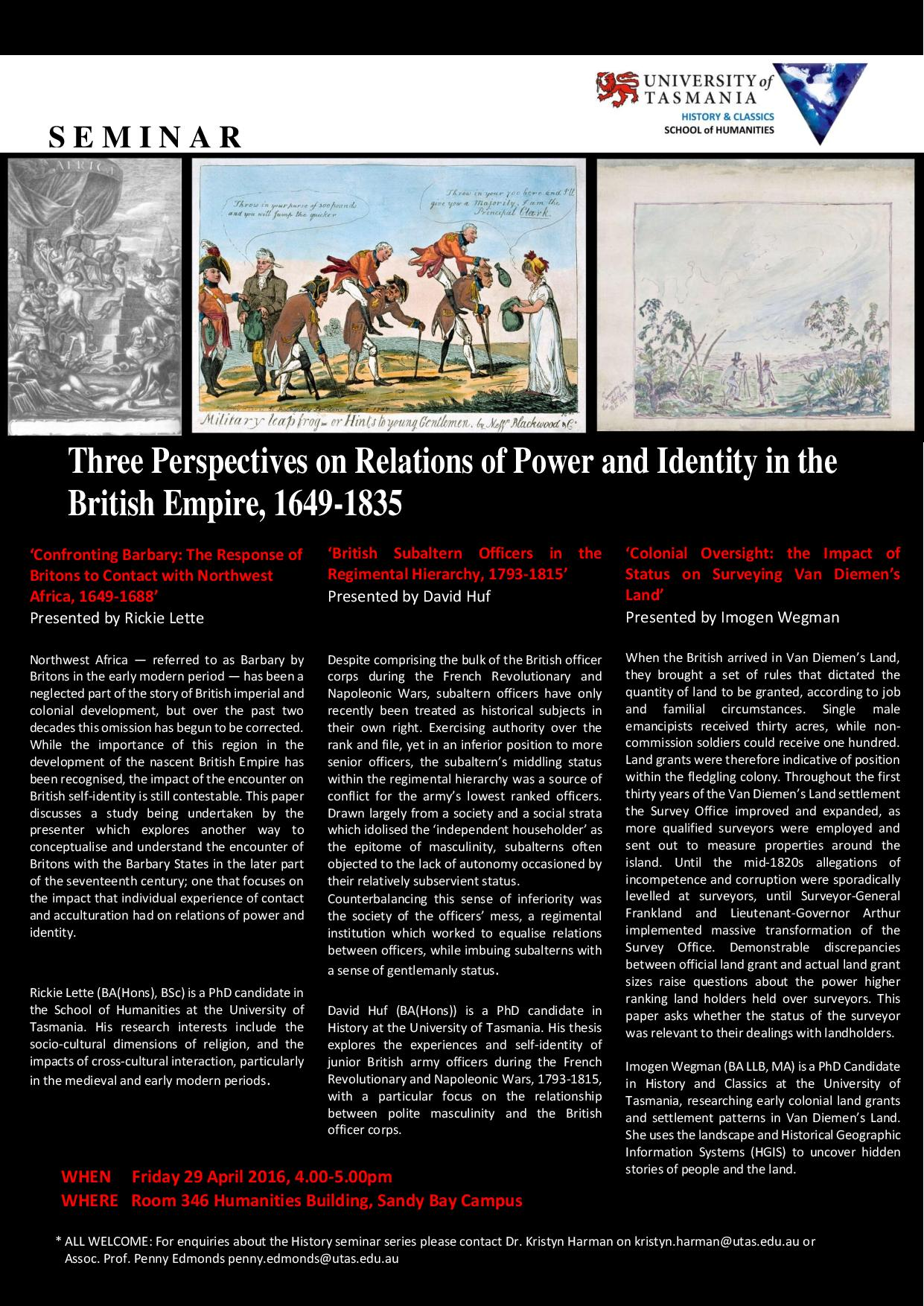 Relations of Power and Identity in the British Empire