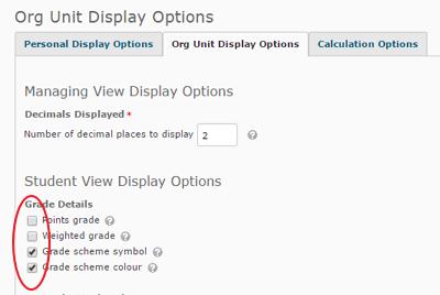 Grade Display Options 1