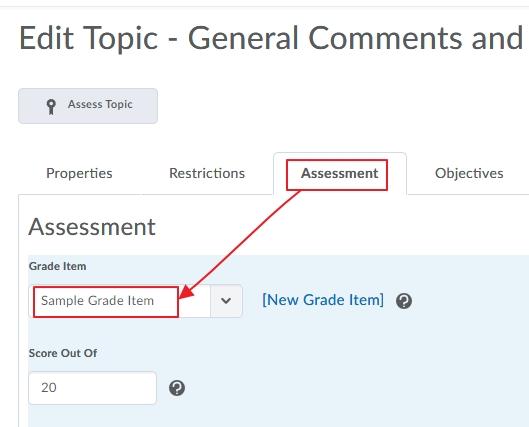 UTAS Letter Grades for Assessment 6