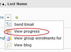 Hide user progress via Classlist