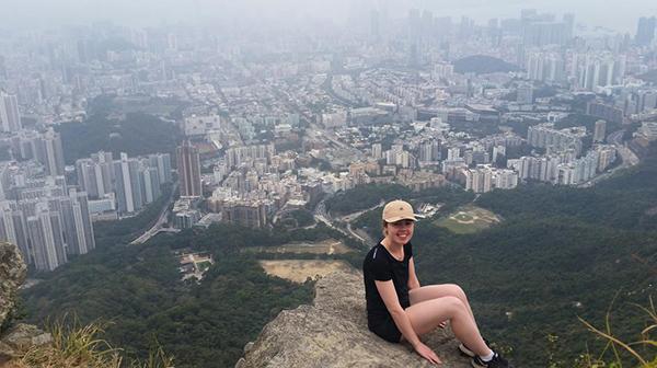 Heidi White, in Hong Kong