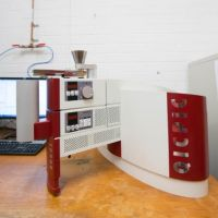Instrument for particle size analyses installed