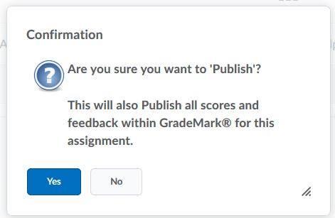 Grademark warning message
