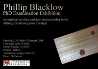 PhD Examination Exhibition - Phillip Blacklow