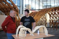 Making an entrance: University architecture students on show at Tasmanian Craft Fair
