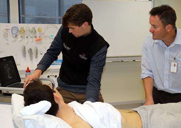 Bedside ultrasound training