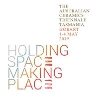 The Australian Ceramics Triennale Tasmania, Hobart 1-4 May 2019, Holding Space Making Place logo
