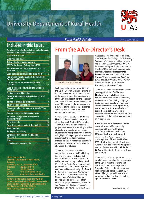 CRH Bulletin January 2010