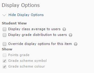 Grade settings