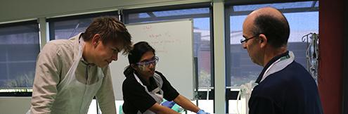 RCS students practising skills