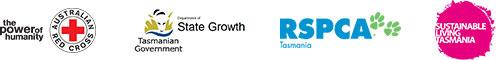 Australian Red Cross, Department of State Growth, RSPCA Tasmania, Sustainable Living Tasmania