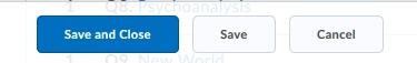 Quiz save button
