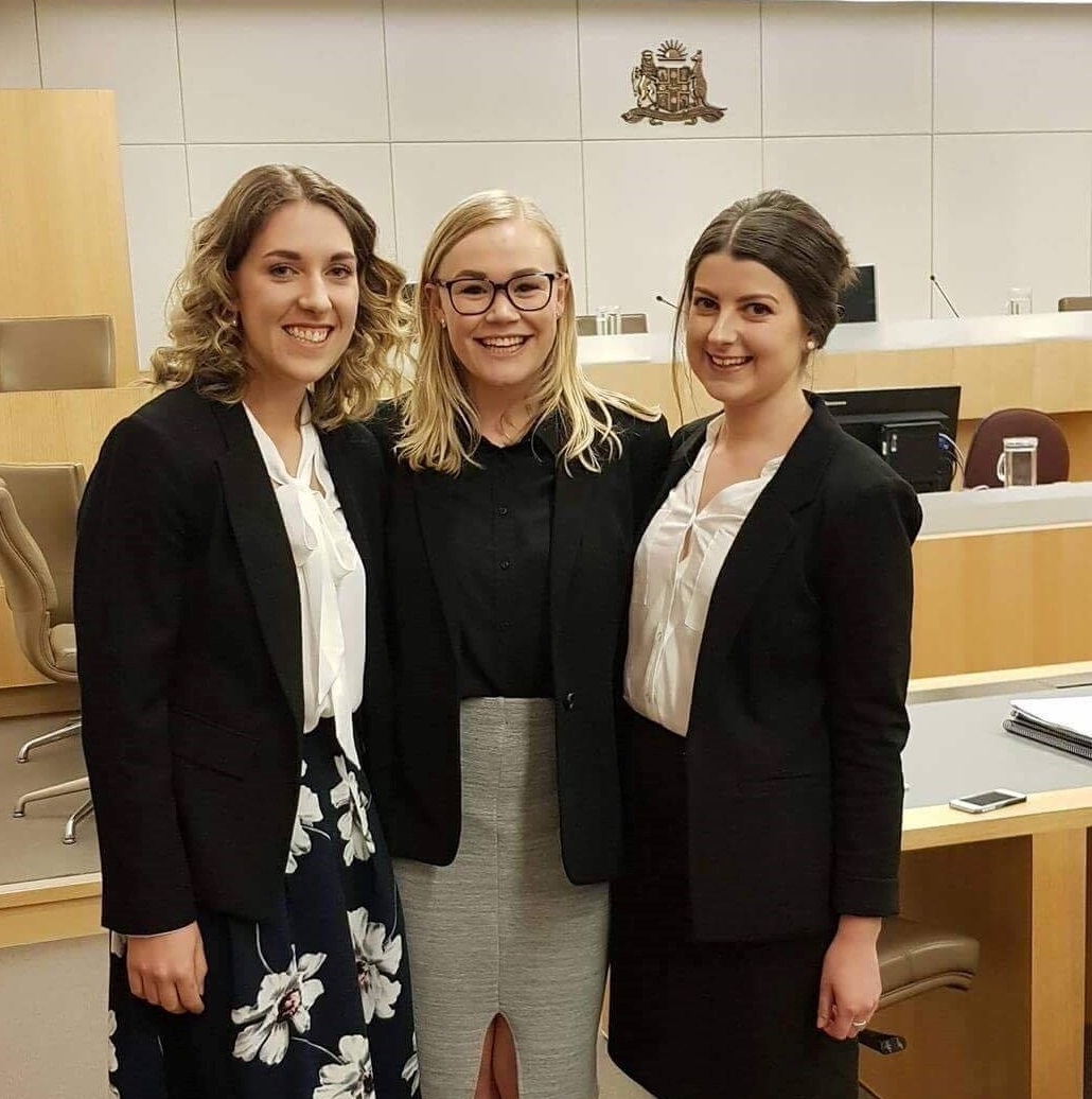 UTAS team win first place in the Baker McKenzie National Women's Moot
