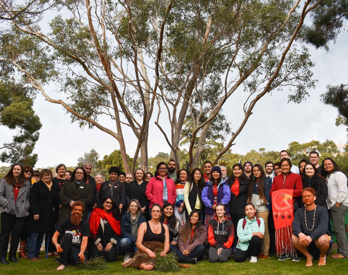 Group photo of the Indigenous Cultural Exchange student welcome