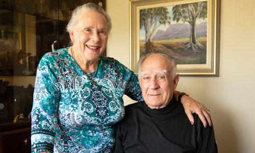 Evelaine (carer) & Ron