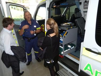 Ambulance and Year 2 students