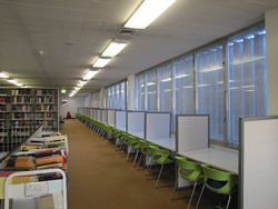 Level 3 Study area in the Morris Miller Library