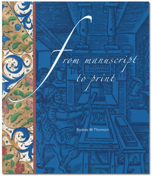 Image of the cover of From Manuscript to Print by Rodney Thomson