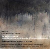 PhD Examination Exhibition - Ann Holt