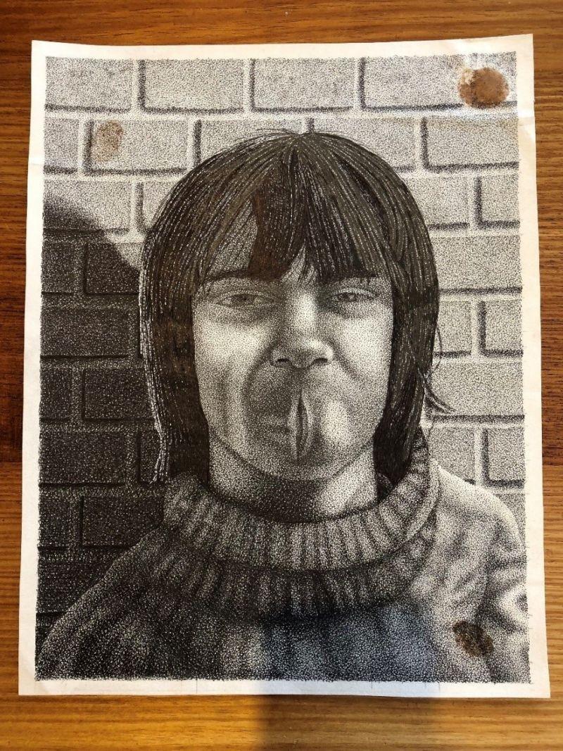 Rodney Febey self-portrait