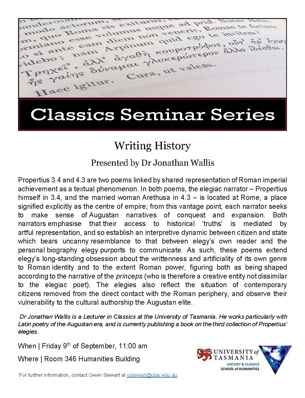 Classics Seminar 9 Sep